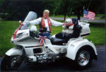 Jane with her 1998 Honda Gold Wing Motor Trike